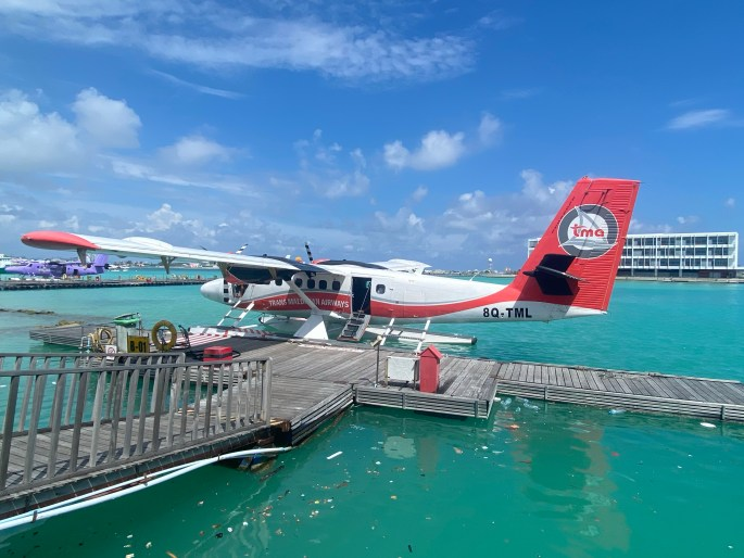 Seaplane at the Maldives airport