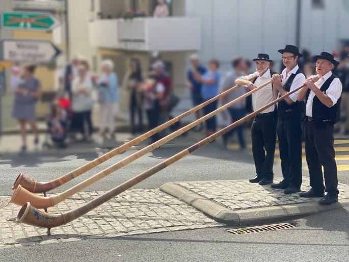 alpine horn in switzerland