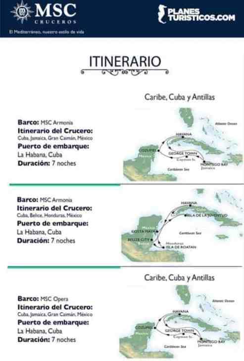 MSC ITINERARIOS
