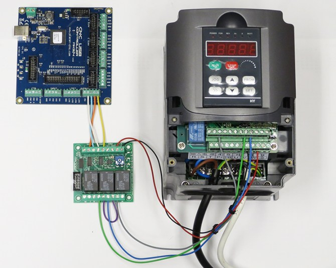 using output board for spindle control  planet cnc