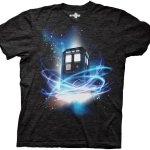 Doctor-Who-Tardis-in-Space-Tri-blend-Black-Mens-T-shirt-S-0