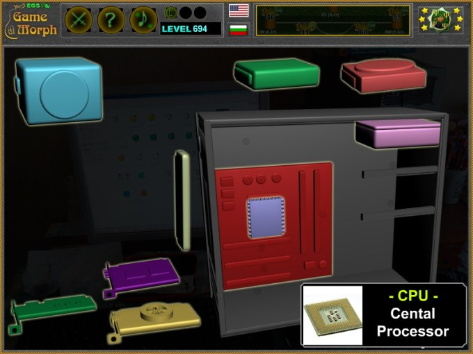 Computer Parts Puzzle   IT Learning Game Computer Parts Puzzle Screenshot