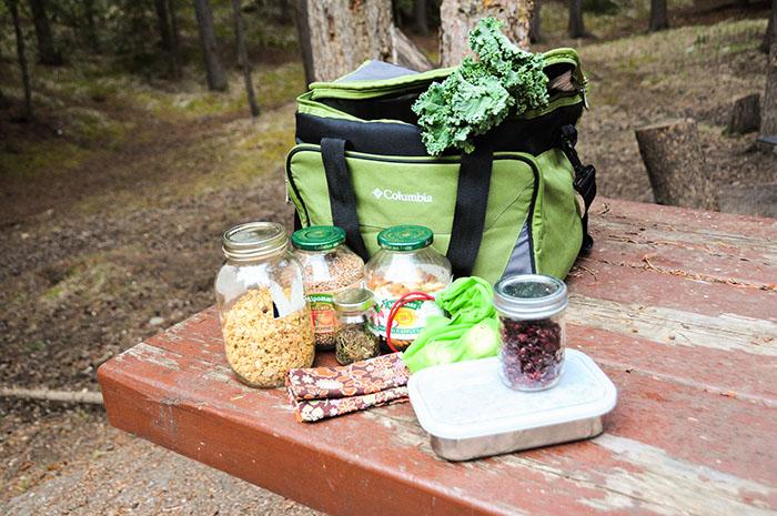 Manger zéro déchet camping