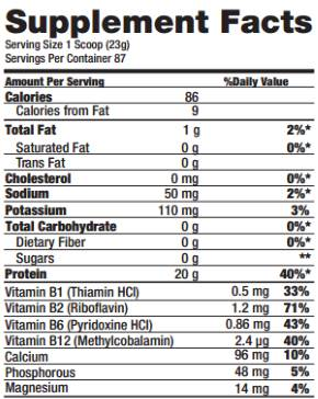 Whey Zero Black Skull Tabela Nutricional