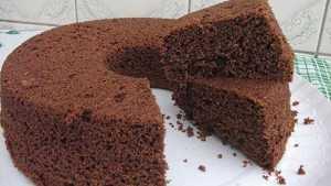 Receita de Bolo de Whey Protein sabor Chocolate