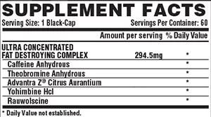 Lipo 6 Black Ultra Concentrado Ingredientes