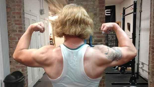 Levantadora de peso trans