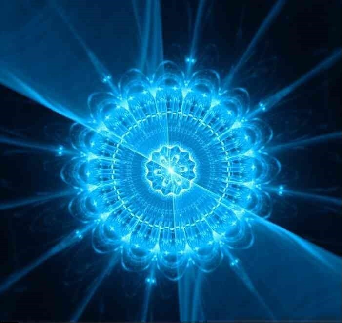 Mandala azul do céu noturno