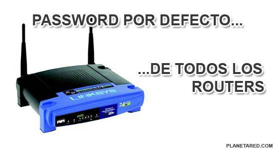 Claves por defecto de todos los routers
