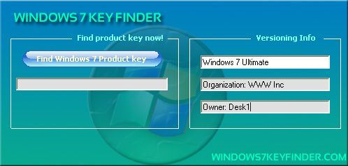 Windows 7 Key Finder, extraer la clave de licencia de Windows 7