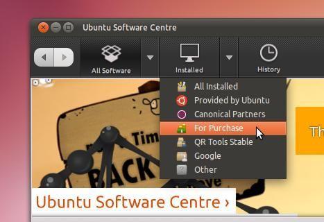 Vista cercana Centro de Software Ubuntu