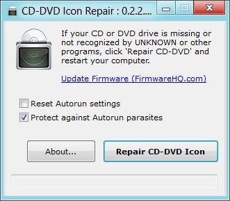CD-DVD Icon Repair