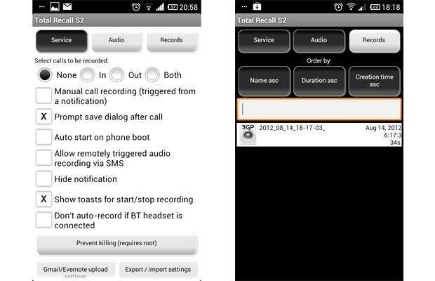 Grabar llamadas en Galaxy S2 y S3