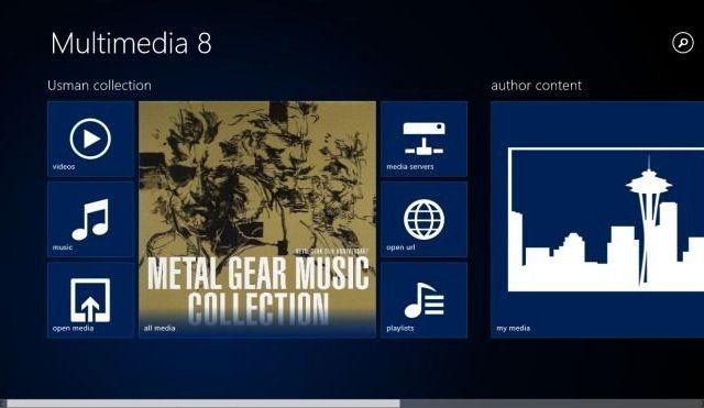 Multimedia 8, pantalla principal