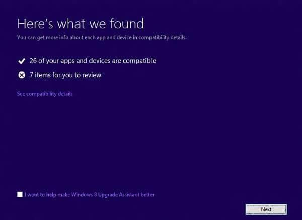 Asistente de actualizacion de Windows 8
