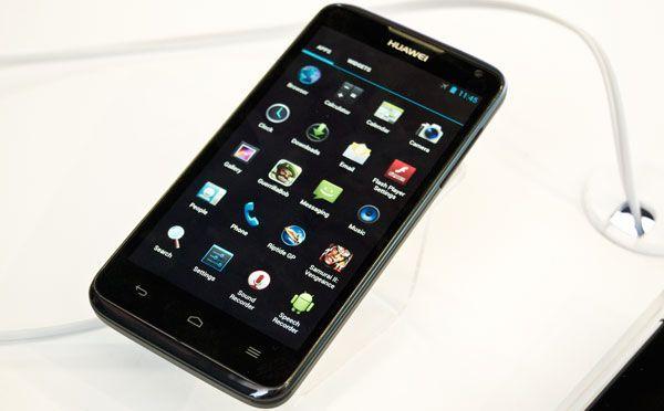 La vista del menú principal de Android desde un Ascend D1 Quad.