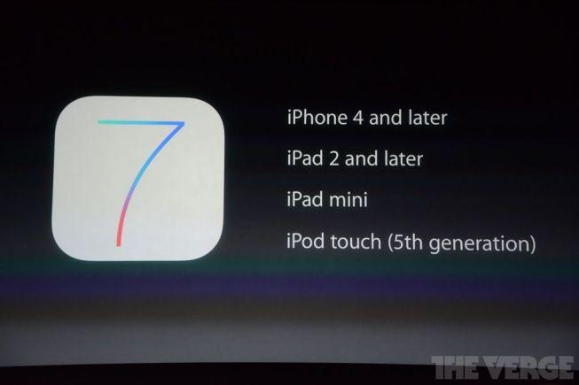 iOS 7 estará disponible a partir del 18 de septiembre