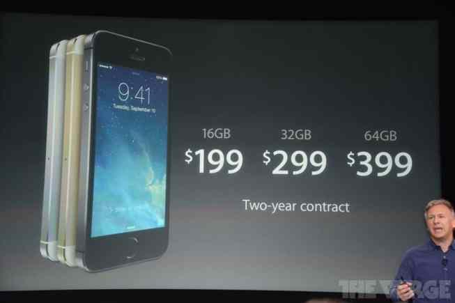 Precios del iPhone 5S