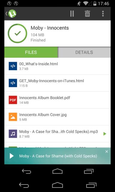 Mejores aplicaciones Torrent para Android - uTorrent
