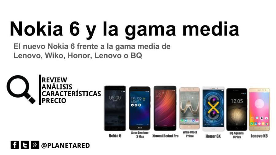 Cómo se sitúa el Nokia 6 en la gama media