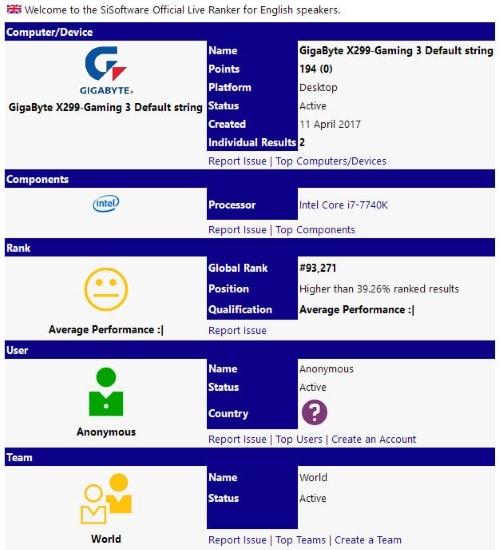 Intel Core i7 7740K