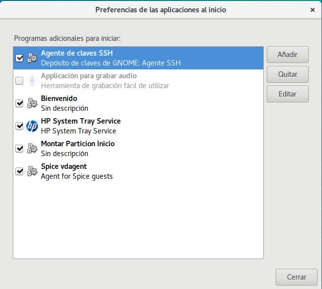 Aplicaciones al comienzo de Ubuntu