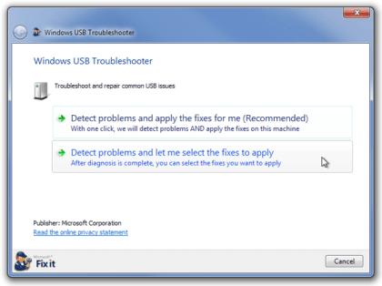 No reconoce USB