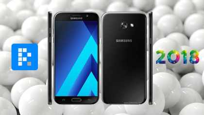 black Samsung Galaxy A7