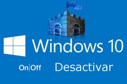 Desactivar en Windows 10