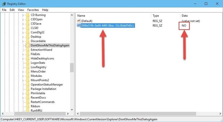 Como recuperar avisos de confirmación en Windows 10