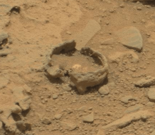 """Bubble"" feature from sol 309. Credit: NASA / JPL-Caltech"