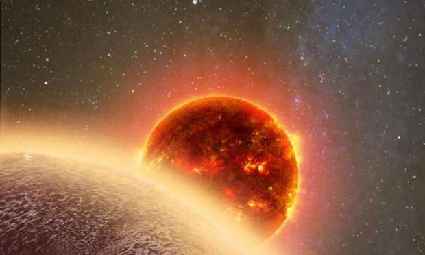 Artist's conception of GJ 1132b, an Earth-sized exoplanet orbiting a nearby star. Conditions on this world, however, are probably more like Venus than Earth. Image Credit: Dana Berry