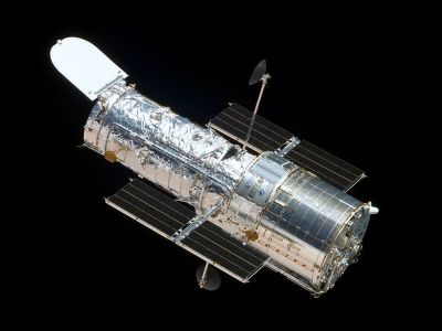 View of the Hubble Space Telescope in orbit. Photo Credit: NASA