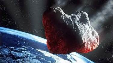Artist's conception of a near-Earth asteroid making a very close approach to Earth. Image Credit: ESA