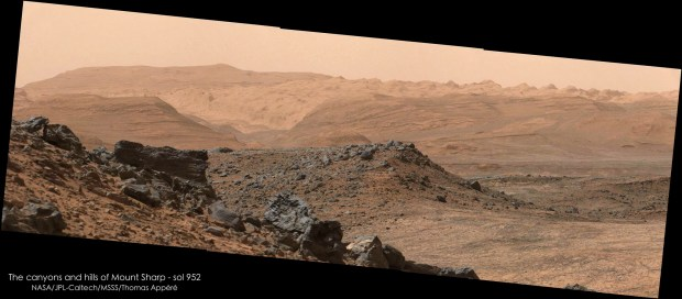Sol 952. Image Credit: NASA/JPL-Caltech/MSSS/Thomas Appéré