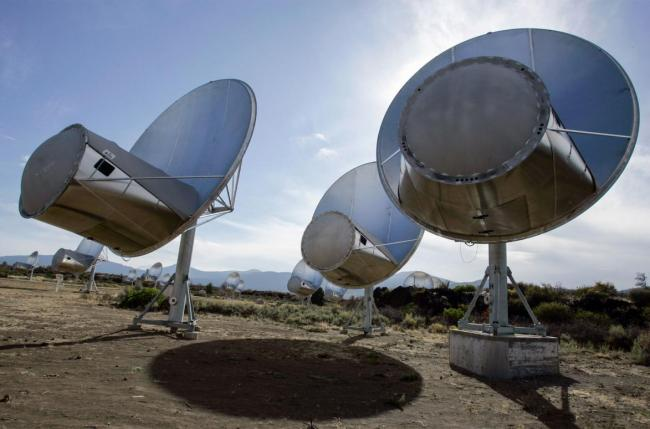 The Allen Telescope Array, among others, is continuing to listen for the signal, but so far has not heard anything. Photo Credit: Ben Margot, AP