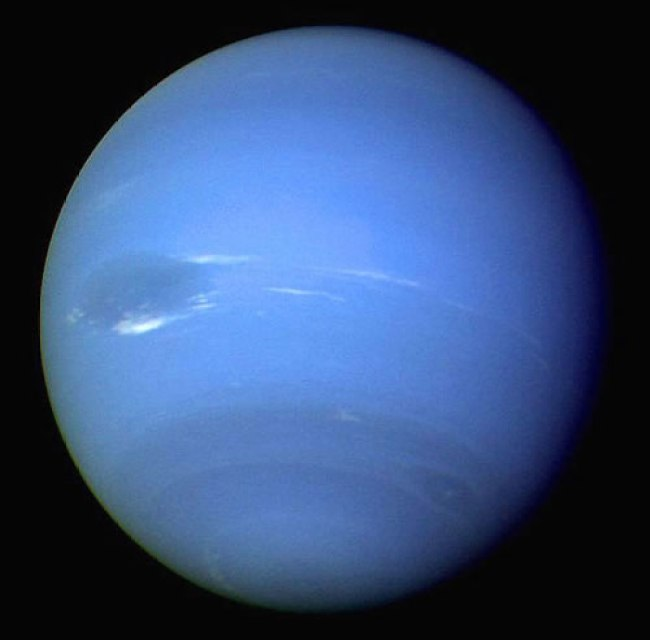 Neptune, as seen by Voyager 2 in 1989. No other missions have yet returned to this enigmatic world, or Uranus. Photo Credit: NASA/JPL