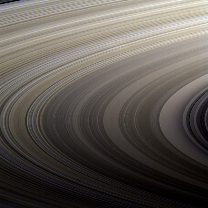 Sweeping view across Saturn's rings, from Cassini. Image Credit: NASA/JPL-Caltech/SSI/Kevin M. Gill