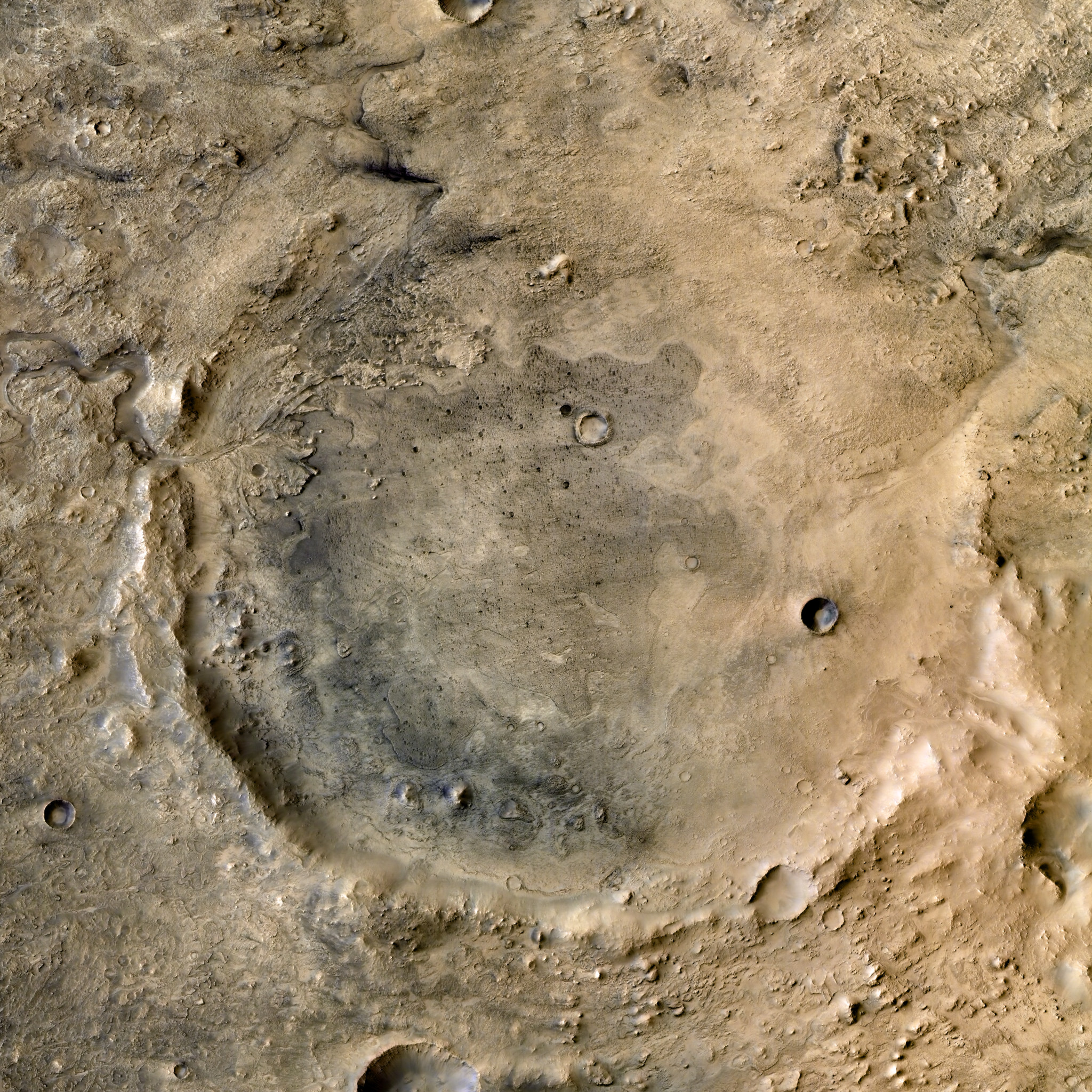 High-res view of Mars 2020 landing site: Jezero Crater – planetaria