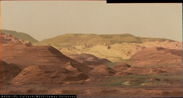 The foothills of Mount Sharp. Image Credit: NASA/JPL-Caltech/James Sorenson