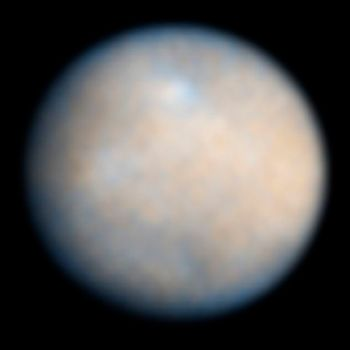 The best image of Ceres so far, from the Hubble Space Telescope. Credit: NASA / ESA / J. Parker (Southwest Research Institute) / P. Thomas (Cornell University) / L. McFadden (University of Maryland, College Park)