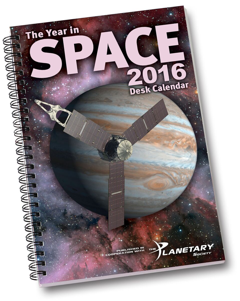 the year in space 2016 desk calendar image credit year in space