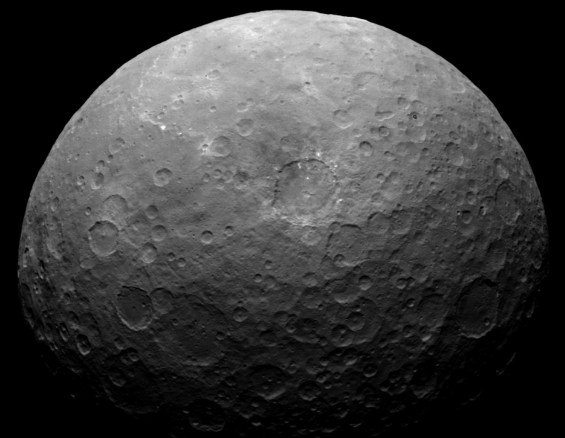 There are numerous bright spots on Ceres, such as these ones, but none are as prominent as the ones in Occator crater. Photo Credit: NASA/JPL-Caltech/UCLA/MPS/DLR/IDA