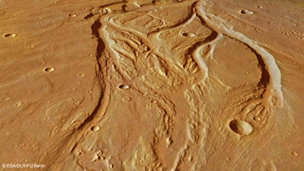 Ancient and now-dry river valleys are just part of the evidence that Mars used to be much wetter than it is now. Image Credit: ESA/DLR/FU Berlin