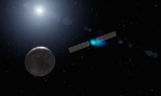 Artist's conception of Dawn orbiting Ceres. Image Credit: NASA/JPL-Caltech