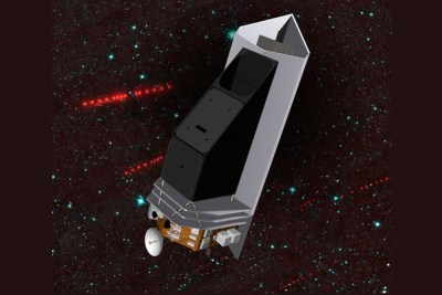 Artist's conception of the NEOCam spacecraft, which would study asteroids including Near-Earth asteroids which could potentially hit the Earth. Image Credit: NASA/JPL-Caltech