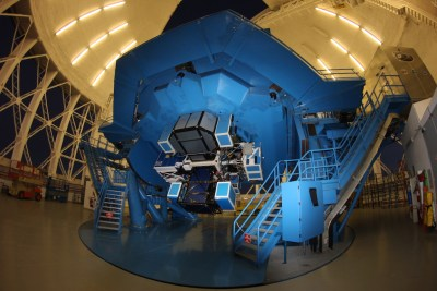 The Gemini Planet Imager, as seen mounted on the Gemini South telescope. Photo Credit: Gemini Observatory
