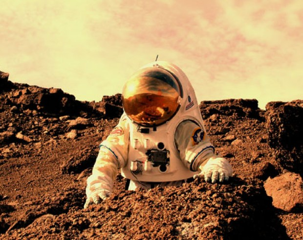 Will the first NASA astronauts land on Mars by 2030? Credit: NASA Haughton-Mars Project / Pascal Lee