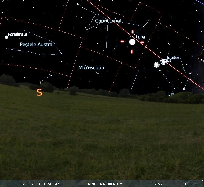 conjunctie Venus Jupiter 02.12.