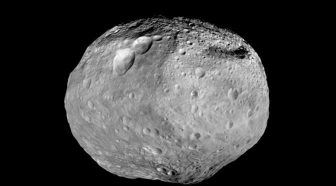 Interesting polar craters on Vesta